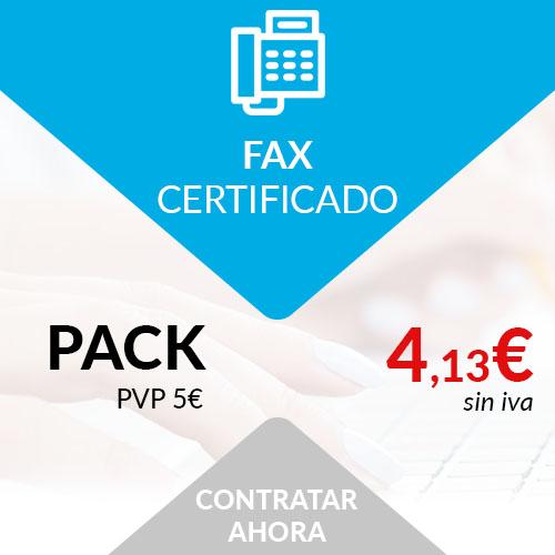 fax certificado