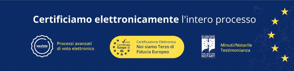 certificiamo elettronicamente l intero processo electronic vote wevote full certificate